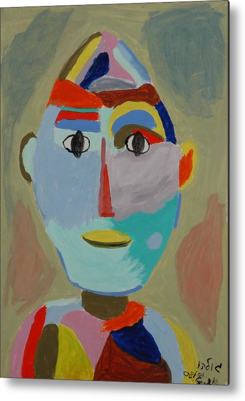 Caricaure Metal Print featuring the painting Face by Harris Gulko