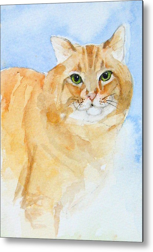 Feline Metal Print featuring the painting Orange Taffy by Gina Hall