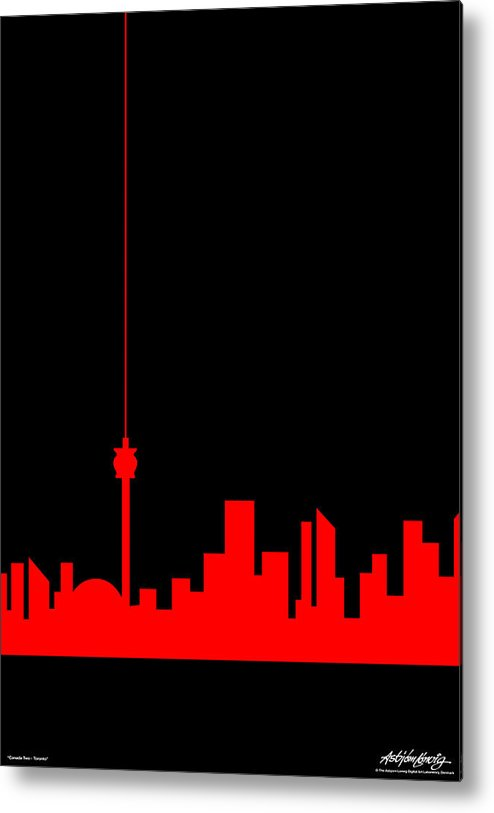 Toronto Metal Print featuring the painting Toronto Skyline by Asbjorn Lonvig