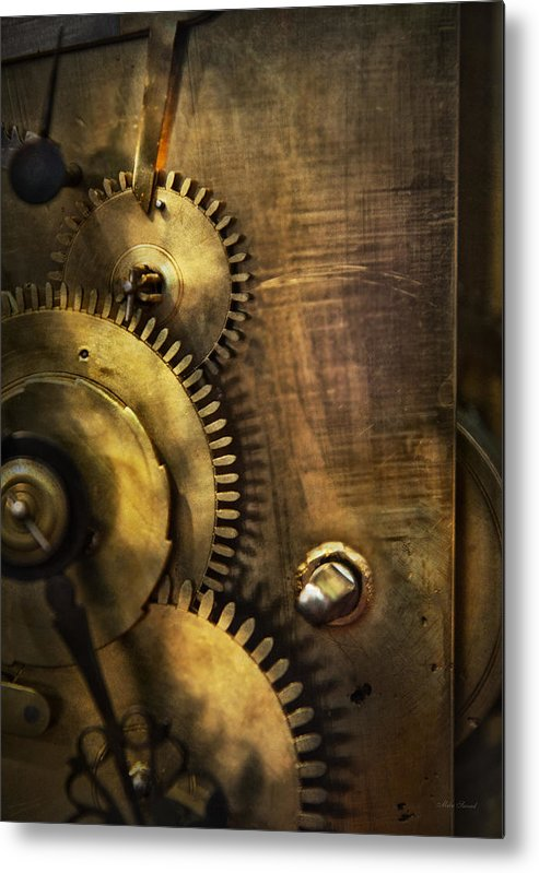 Clock Metal Print featuring the photograph Steampunk - Toothy by Mike Savad