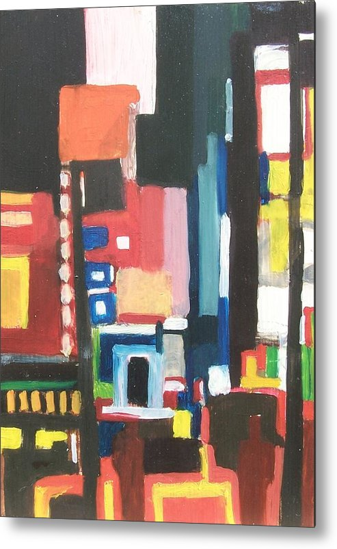 Cityscape Metal Print featuring the painting Bway At 46th by Ron Erickson