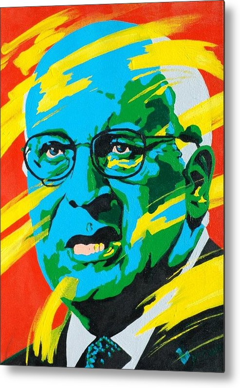 Painting Metal Print featuring the painting Cheney by Dennis McCann