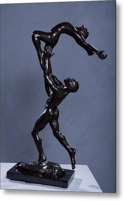 Male And Female Metal Print featuring the sculpture Flight by Dan Earle