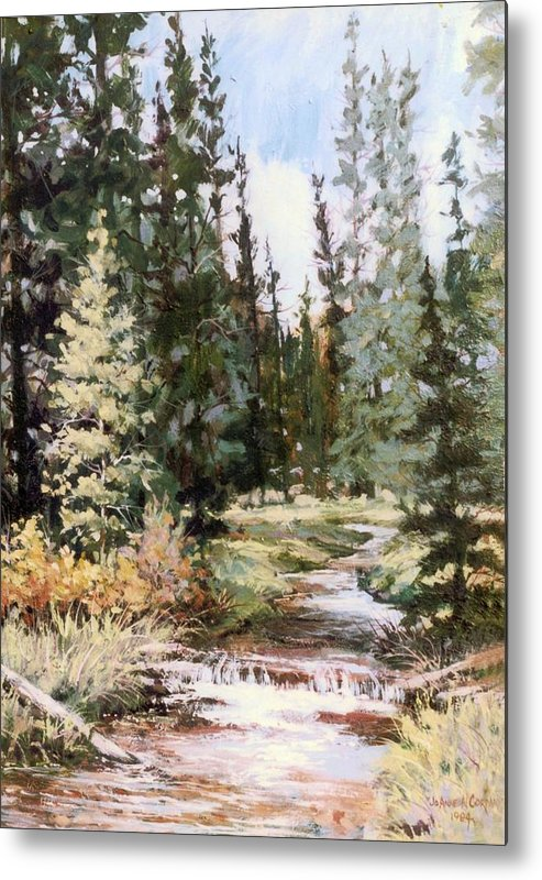 Stream Metal Print featuring the painting High Uintah Stream by JoAnne Corpany