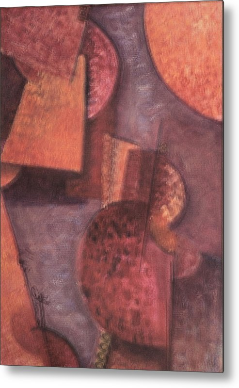 Abstract Metal Print featuring the painting Innner Self by Kevin Stevens