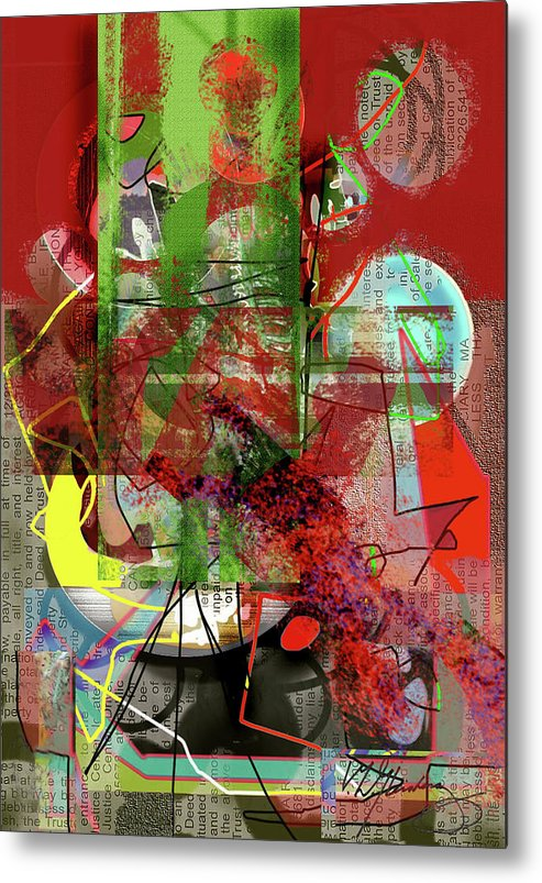 Digital Painting Metal Print featuring the painting Introspection by Dean Gleisberg