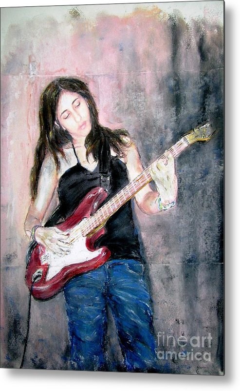 Painting Metal Print featuring the painting Michal by Sigalit Aharoni