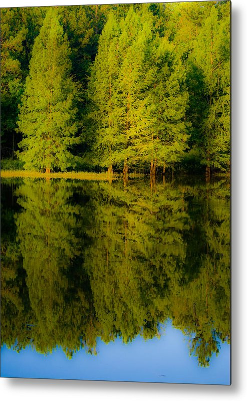 Blue Metal Print featuring the photograph Mirror Lake 2 by John Busby