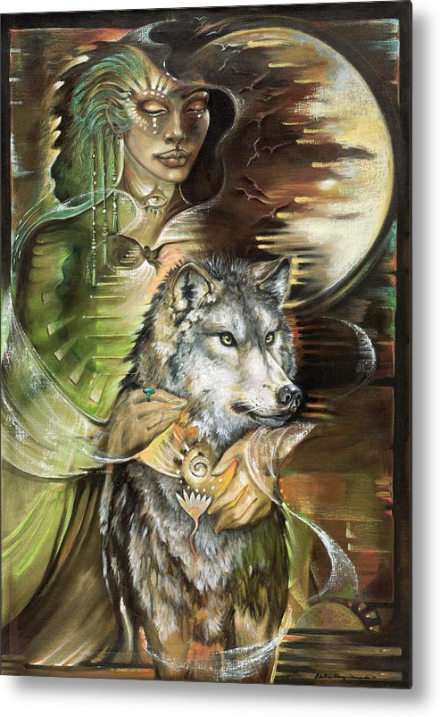 Animals Metal Print featuring the painting Missing You Susan Boulet by Blaze Warrender