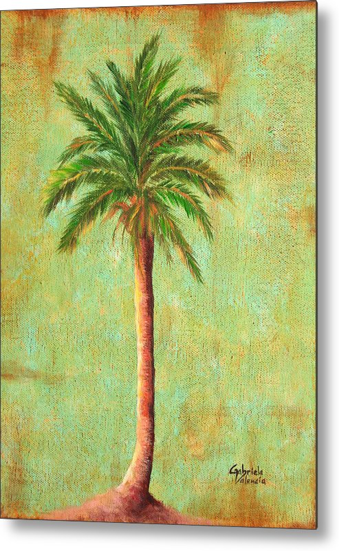 Metal Print featuring the painting Palm Tree Studio 3 by Gabriela Valencia