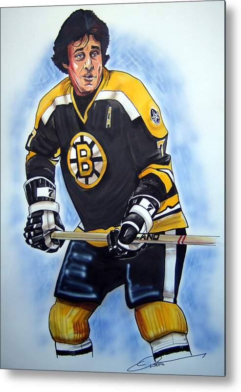 Nhl Metal Print featuring the painting Phil Esposito by Dave Olsen