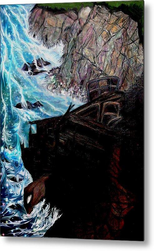Shipwrecks Metal Print featuring the painting Precious Gem Mountain by Brenda L Spencer