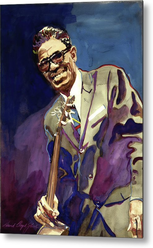 Blues Metal Print featuring the painting Sam Lightnin Hopkins by David Lloyd Glover