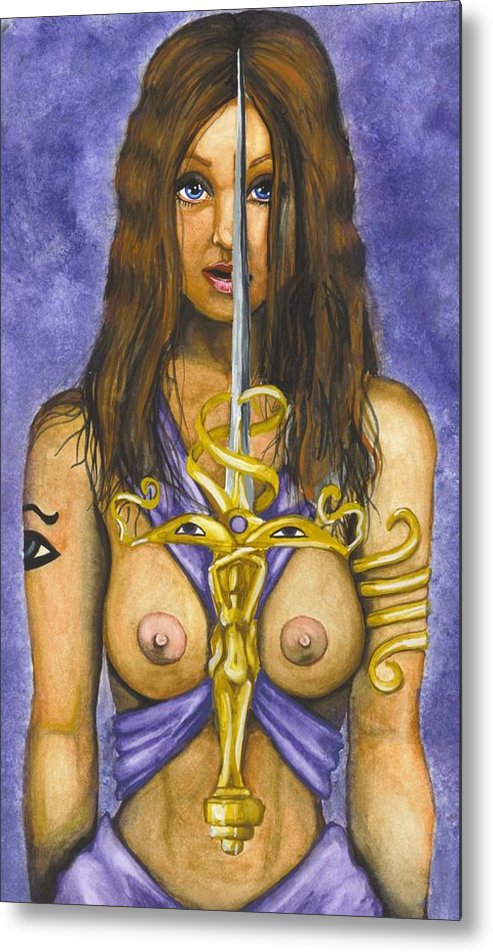 Sword Metal Print featuring the painting The Sword Of Magic by Scarlett Royal