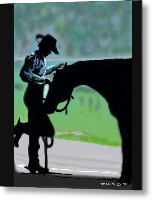 Horsemen Metal Print featuring the painting Barn Time by Kim Souza