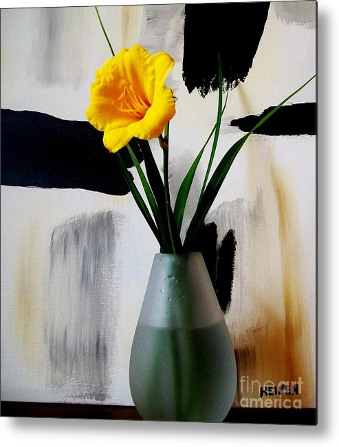 Photo Metal Print featuring the photograph Daylily Abstract by Marsha Heiken