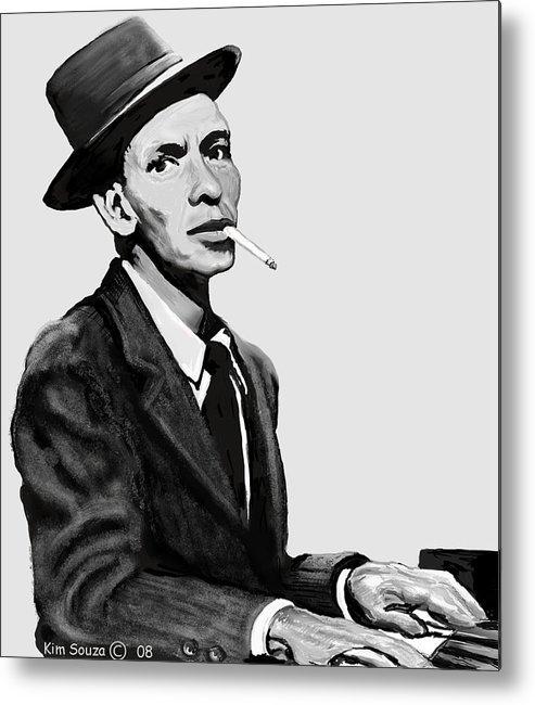 Frank Sinatra Metal Print featuring the digital art Ol Blue Eyes by Kim Souza