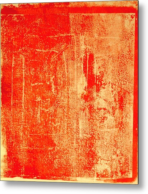 Orange Metal Print featuring the mixed media Orange No 34 by Susan Grissom