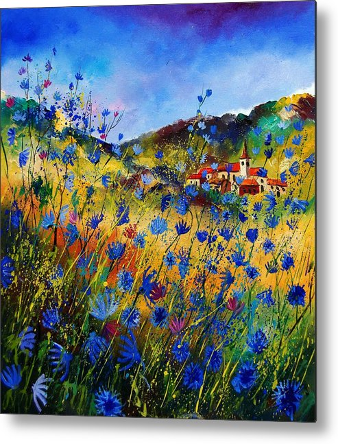 Flowers Metal Print featuring the painting Summer Glory by Pol Ledent