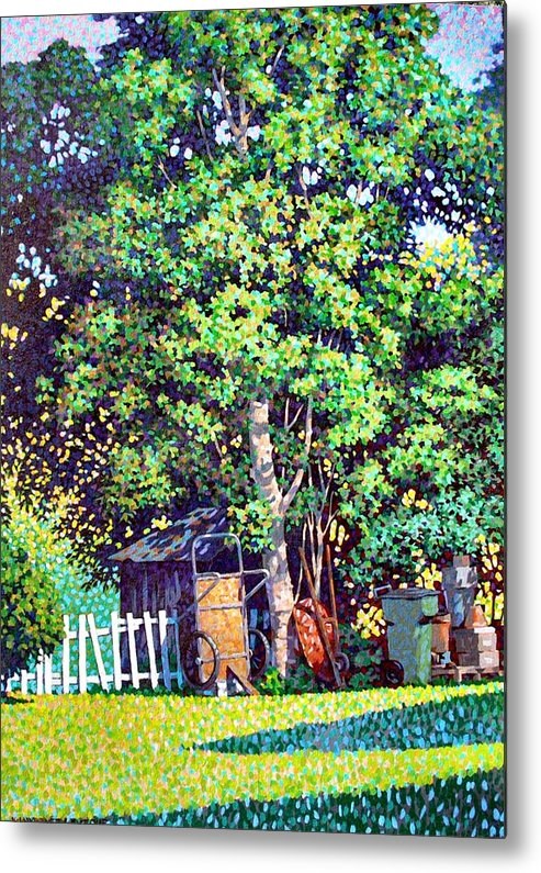 Landscape Metal Print featuring the painting Hackberry Tree by Kevin Lawrence Leveque