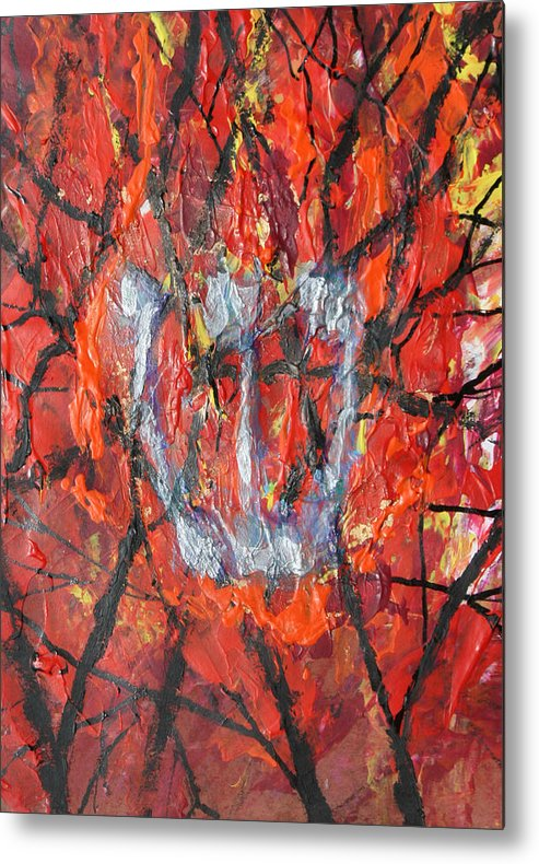 Judaica Metal Print featuring the painting Burning Bush by Mordecai Colodner