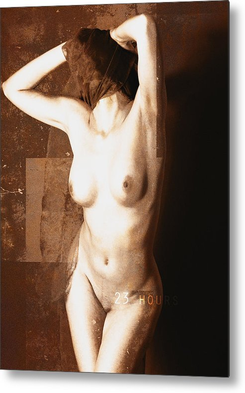 Erotic Art Metal Print featuring the photograph Erotic Art 23 Hours by Falko Follert