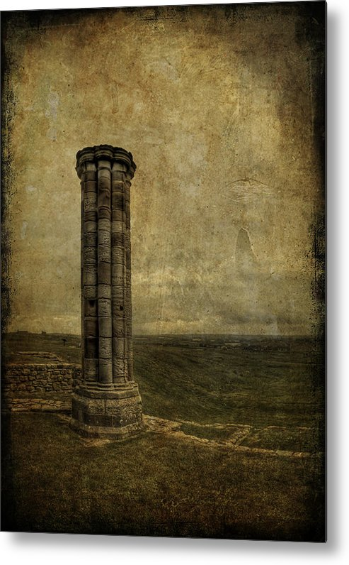 Column Metal Print featuring the photograph From The Ruins Of A Fallen Empire by Evelina Kremsdorf