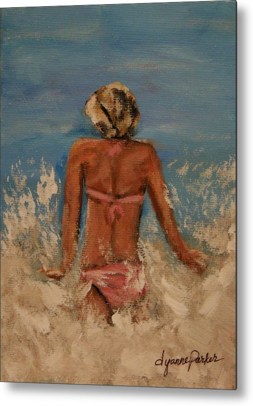 Beach Metal Print featuring the painting Just Keep Swimming by Dyanne Parker