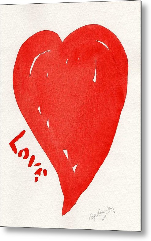 Love Metal Print featuring the painting Love Is.... by Roger Cummiskey
