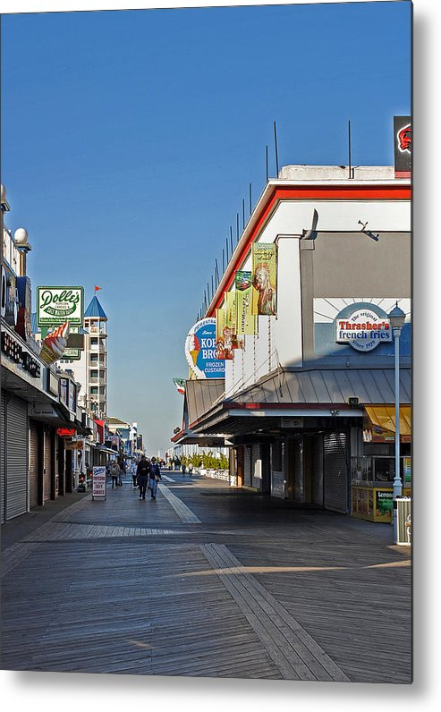 Fair Metal Print featuring the photograph Oc Boardwalk by Skip Willits