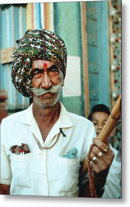 Beard Metal Print featuring the photograph Our Man In India by Carl Purcell