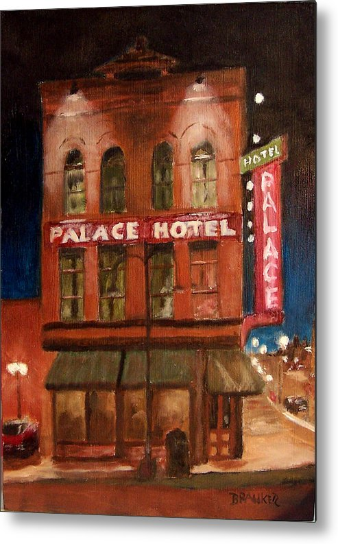 Cityscape Metal Print featuring the painting Palace Hotel by Bill Brauker