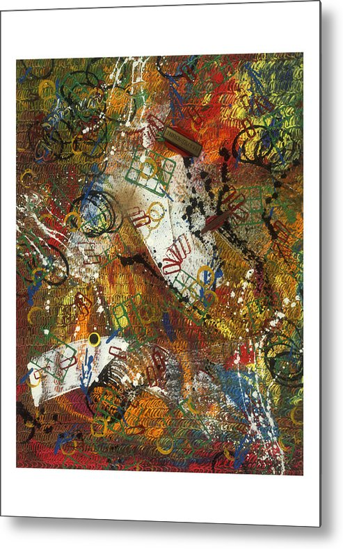 Abstract Metal Print featuring the painting Pour Pied Sensible by Dominique Boutaud