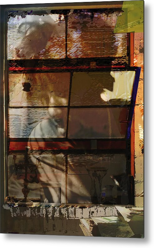 Window Metal Print featuring the digital art Reflections And Memories by Xavier Carter