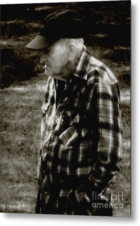 Farmer Metal Print featuring the photograph Remembering Hard Times by RC DeWinter