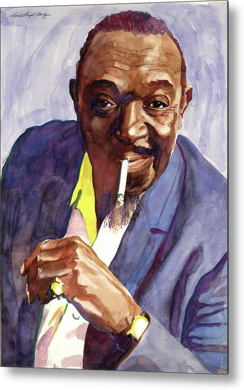 Jazz Metal Print featuring the painting Rex Stewart Jazz Man by David Lloyd Glover