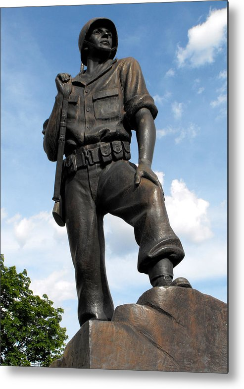 Statue Metal Print featuring the photograph Soldier by Jan Tribe