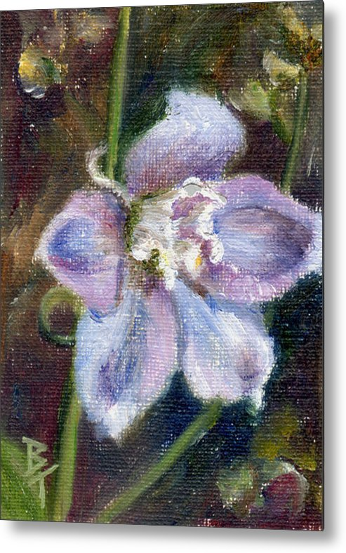 Flower Metal Print featuring the painting Sweet Bloom Aceo by Brenda Thour
