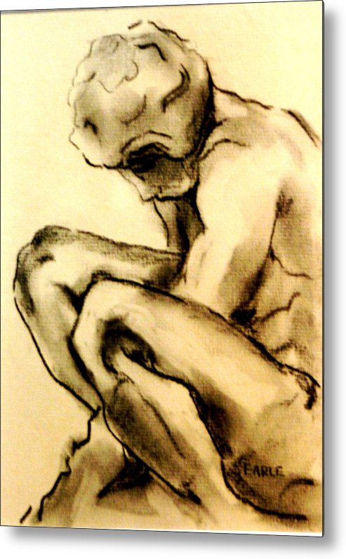 Adolescent Metal Print featuring the drawing The Adolescent by Dan Earle