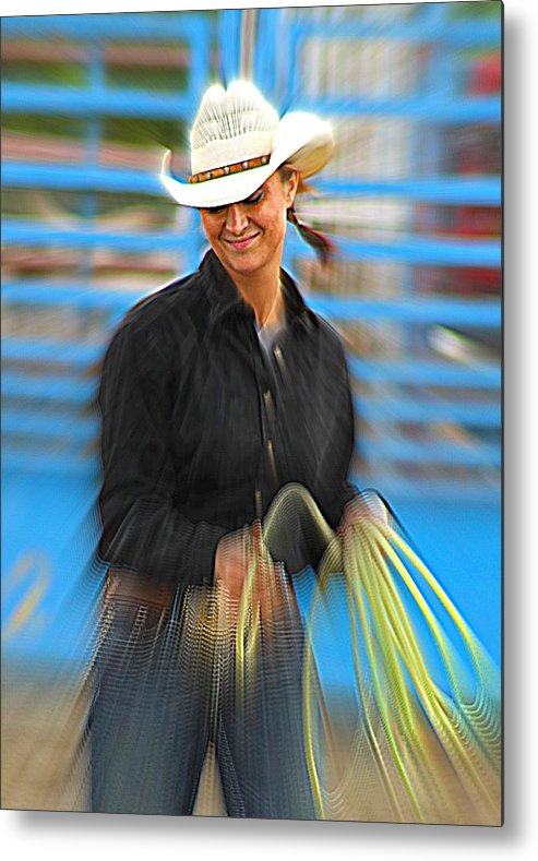 Cowgirl Metal Print featuring the photograph Wrangler by Rick Monyahan
