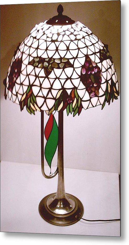 Glass Metal Print featuring the glass art Boris Godunov Lamp by Greg Gierlowski