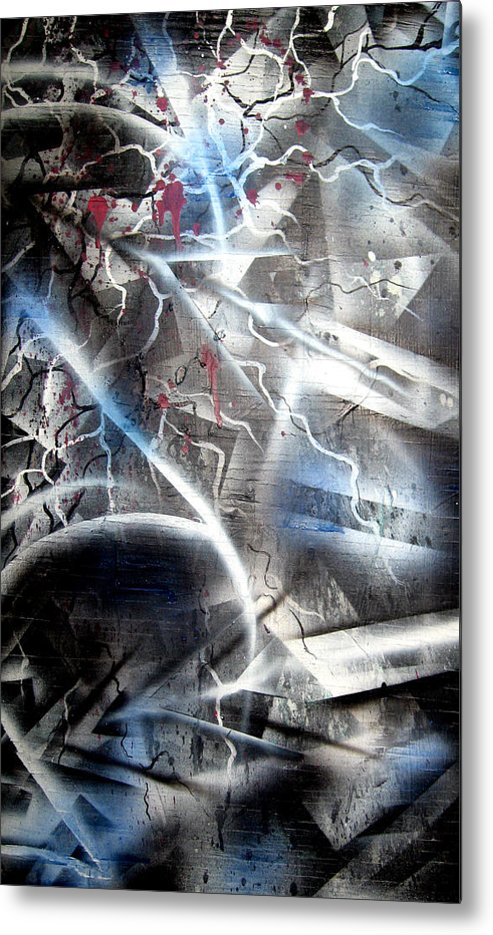 Contemporay Metal Print featuring the painting Rebirth2 by Leigh Odom