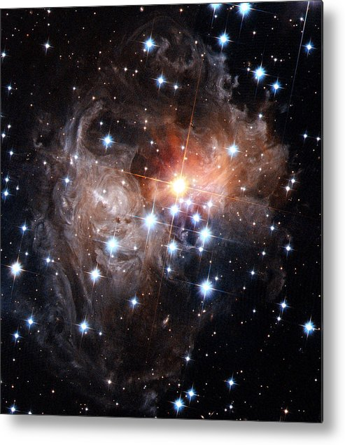 Galaxy Metal Print featuring the photograph Intricate Structures In Interstellar by ESA and nASA