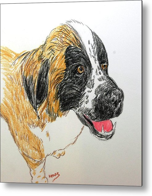 Pencil Metal Print featuring the drawing Maggie by David Keene