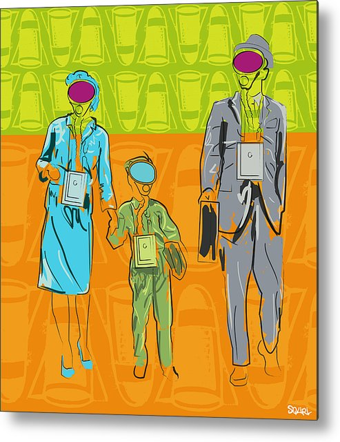 Nuclear Family Metal Print featuring the digital art Nuclear Family by Steven W Rand