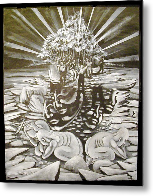 Surreal Metal Print featuring the painting The Gloaming by Stephen Barry