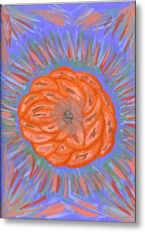Flower Metal Print featuring the painting Starburst by Laura Lillo