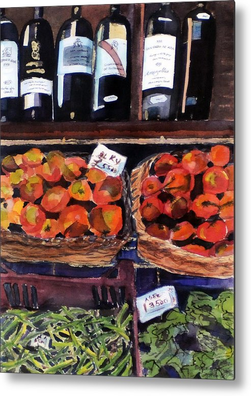 Wine Metal Print featuring the painting Italian Market by Susie Jernigan