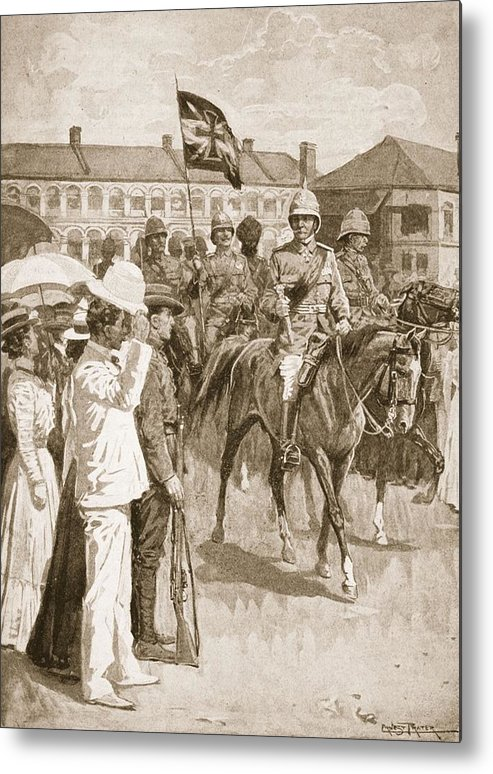 Boxer Rebellion Metal Print featuring the drawing The Leader Of The Allies, Illustration by Ernest Prater