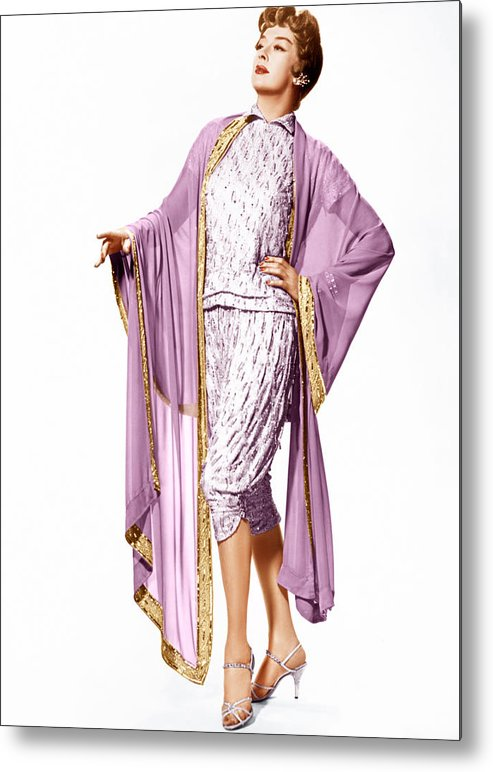 1950s Portraits Metal Print featuring the photograph Auntie Mame, Rosalind Russell, 1958 by Everett